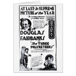 Douglas Fairbanks 1921 anuncio de la película de t Tarjeta De Felicitación
