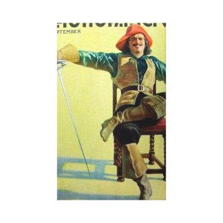 Douglas Fairbanks 1921 movie magazine cover Canvas Print