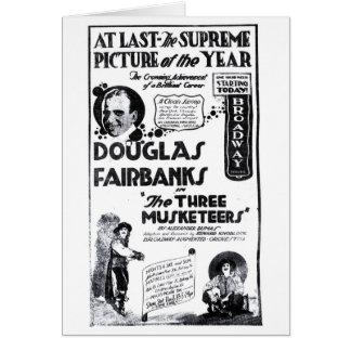 Douglas Fairbanks 1921 Three Musketeers movie ad Greeting Card