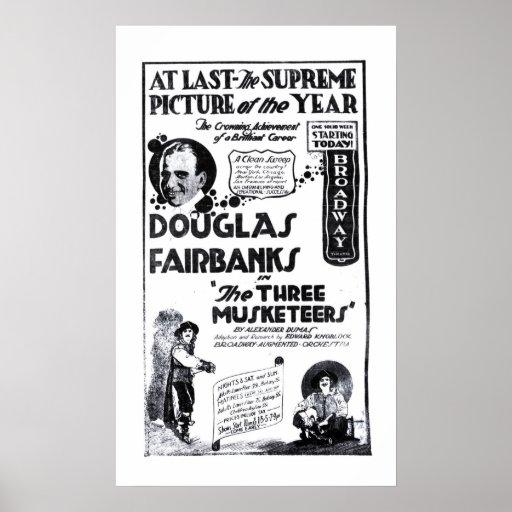 Douglas Fairbanks 1921 vintage movie ad poster