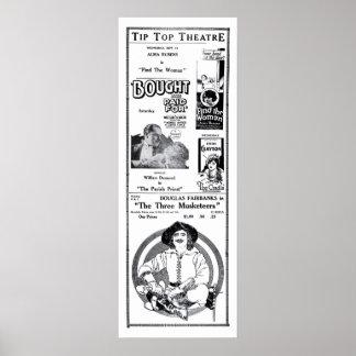 Douglas Fairbanks 1922 vintage movie ad poster