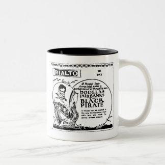 Douglas Fairbanks BLACK PIRATE 1928 Two-Tone Coffee Mug