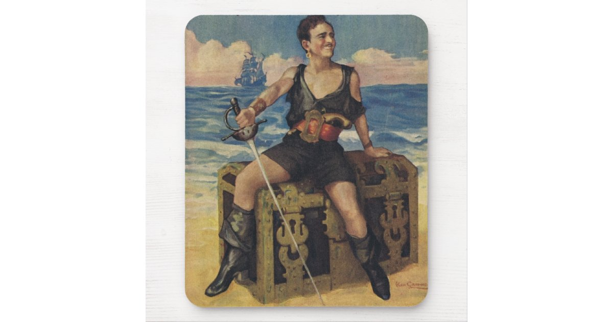 Douglas Fairbanks Black Pirate Mousepad Zazzle