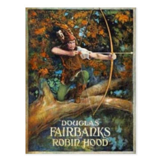 Douglas Fairbanks como Robin Hood Postales