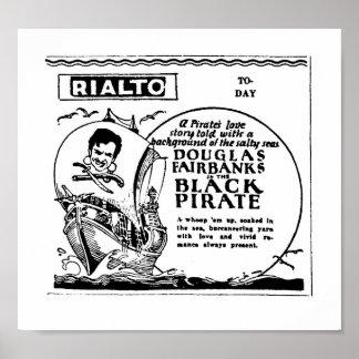 Douglas Fairbanks el anuncio negro de la película  Póster