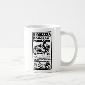 Douglas Fairbanks la MARCA de ZORRO 1921 Taza Básica Blanca