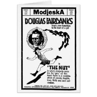 """Douglas Fairbanks """"la tarjeta 1921 del anuncio de"""