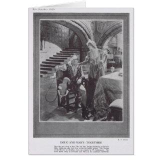 Douglas Fairbanks Mary Pickford que domestica a la Tarjeta De Felicitación