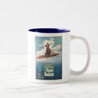 Douglas Fairbanks Thief of Bagdad movie poster Two-Tone Coffee Mug