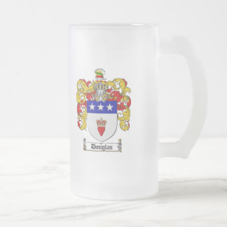 DOUGLAS FAMILY CREST -  DOUGLAS COAT OF ARMS 16 OZ FROSTED GLASS BEER MUG