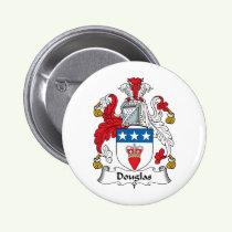 Douglas Family Crest Button