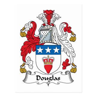 Douglas Family Crest Postcard