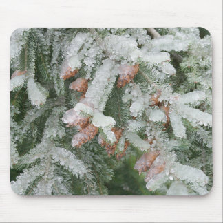 Douglas Fir Covered with Ice Mouse Pad