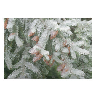 Douglas Fir Covered with Ice Placemat