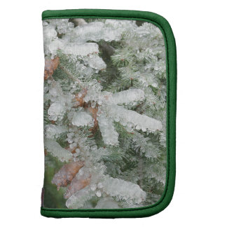 Douglas Fir Covered with Ice Folio Planner