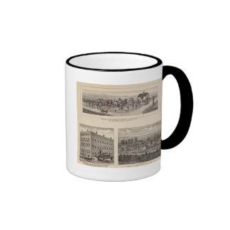 Douglas, Kansas Ringer Coffee Mug