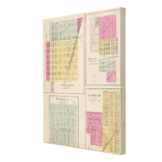 Douglas, León, Wingate, y Latham, Kansas Impresión En Lona