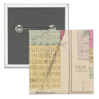 Douglas, León, Wingate, y Latham, Kansas Pin