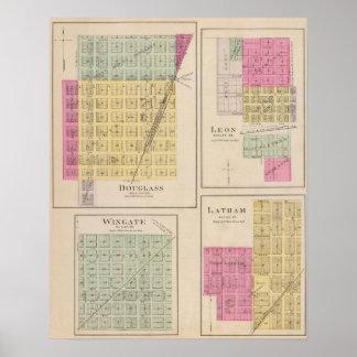 Douglas, León, Wingate, y Latham, Kansas Póster
