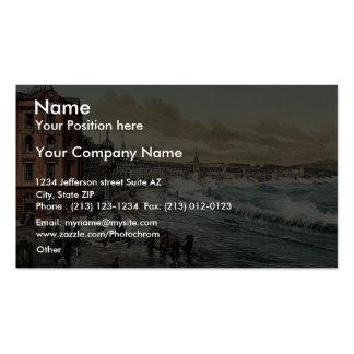 Douglas, loch promenade (storm scene), Isle of Man Double-Sided Standard Business Cards (Pack Of 100)