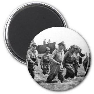 Douglas MacArthur lands at Leyte Philippine Island Magnet
