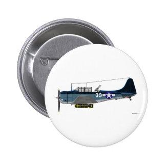 Douglas SBD-5 Dauntless 2 Inch Round Button
