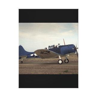 Douglas, SBD Dauntless,_Classic Aviation Canvas Print