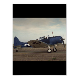 Douglas, SBD Dauntless,_Classic Aviation Poster