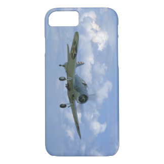 Douglas SBD Dauntless, Flying, Front_WWII Planes iPhone 8/7 Case