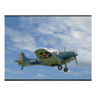 Douglas SBD Dauntless, Flying, Side_WWII Planes Poster