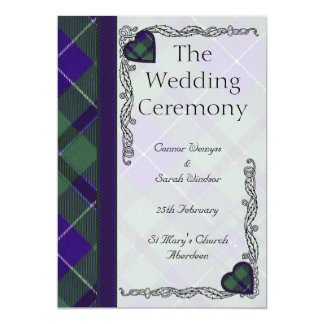 Douglas Scottish Tartan 5x7 Paper Invitation Card