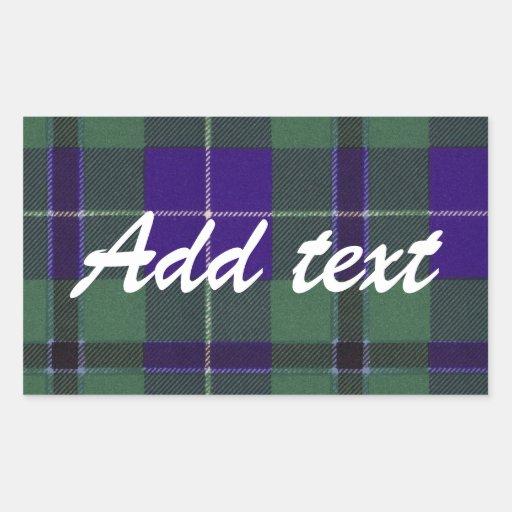 Douglas Scottish Tartan Rectangular Sticker
