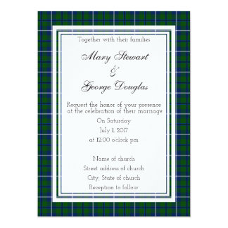 Douglas Scottish Wedding Invitation