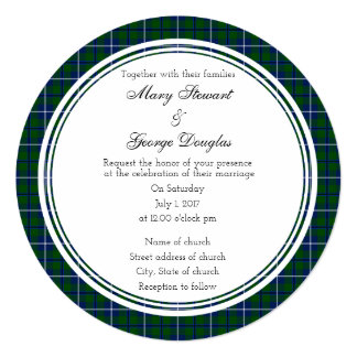 Douglas Scottish Wedding Round Invitation