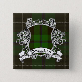 Douglas Tartan Shield Button