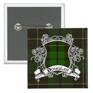 Douglas Tartan Shield Button