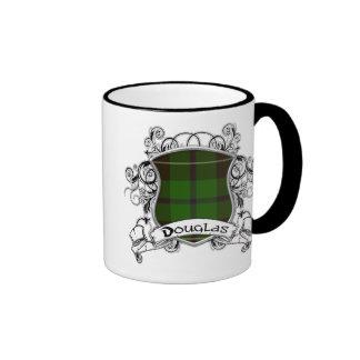Douglas Tartan Shield Ringer Coffee Mug