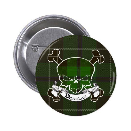 Douglas Tartan Skull Button