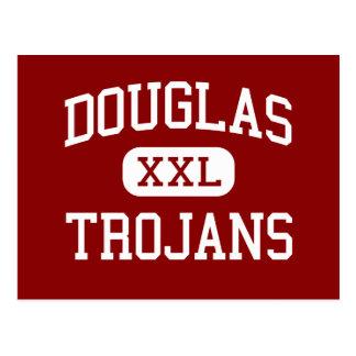 Douglas - Trojans - High School - Winston Oregon Postcard