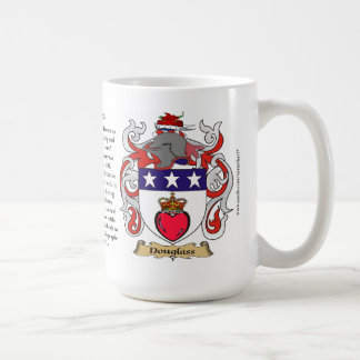 Douglass, the Origin, the Meaning and the Crest Coffee Mug