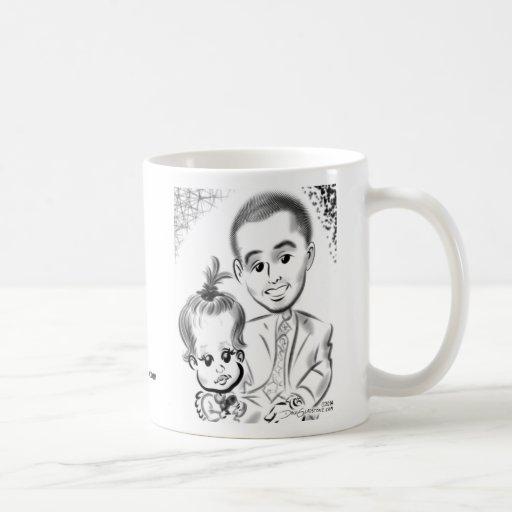 Douglaston Christening Caricatures 2014b Coffee Mugs
