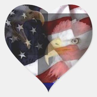 Dougle Eagles Heart Sticker