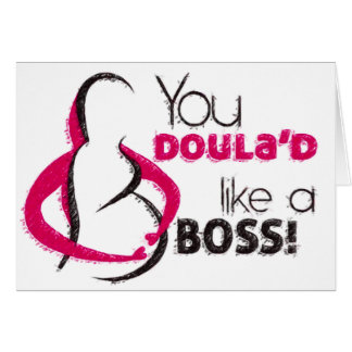 Doula / birth support partner thank you card