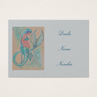 Doula business cards pregnancy mermaid by Renee