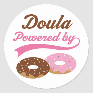 Doula Funny Gift Round Stickers