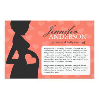 Doula, Midwife, Belly Casting Flyer