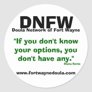 doula network of fort wayne sticker