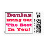 """Doulas Bring Out the Best In You"" Postage Stamps"