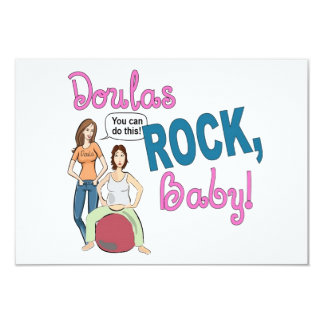 Doulas Rock! flat card w/envelope