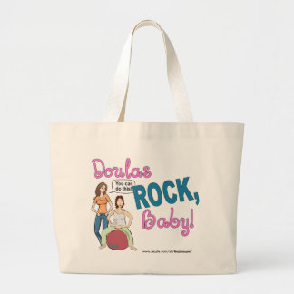 Doulas Rock! Gifts Large Tote Bag